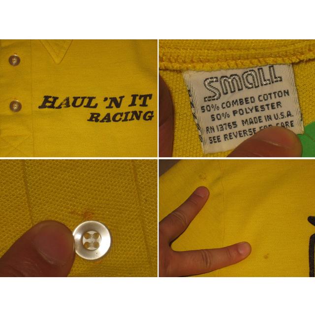 画像4: 古着 Haul'n It Racing 鹿の子 ポロシャツ USA製 80's/120527