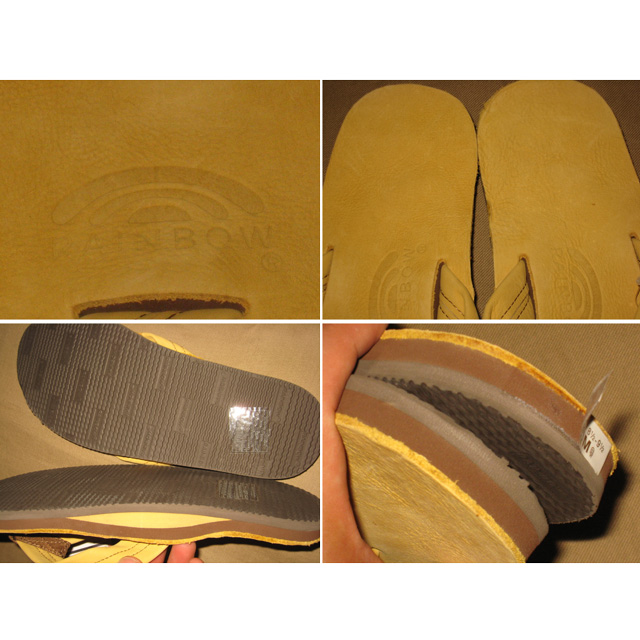 画像4: 新品 RAINBOW レインボー ヌバック レザー ビーチサンダル 00's/120704