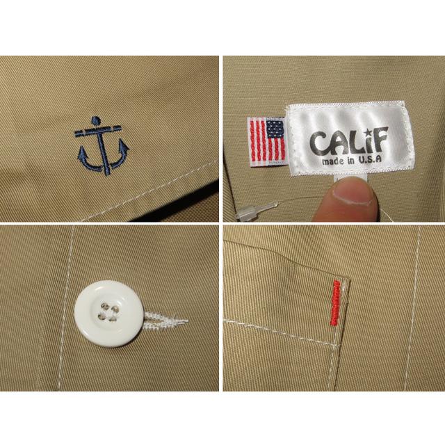 画像5: 新品 CALiF カリフ アンカー 刺繍 マリン ベスト BEI USA製 00's/130429
