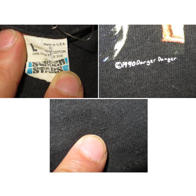 画像5: 【過去に販売した商品です】古着 DANGER DANGER デンジャーデンジャー NAUGHTY ツアー Tシャツ 90's/130614