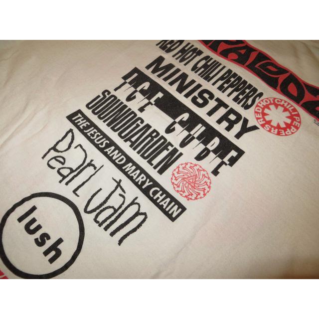 画像4: 【過去に販売した商品です】古着 LOLLAPALOOZA ロラパルーザ 1992 フェス Tシャツ WHT 90's/130614