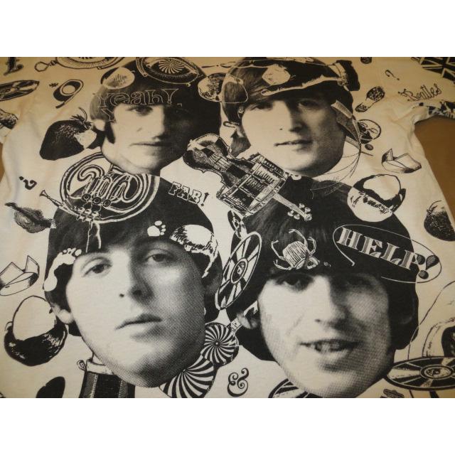 画像3: 【過去に販売した商品です】古着 THE BEATLES ビートルズ 総柄 マルチプリント FAB FOUR Tシャツ 90's/130717