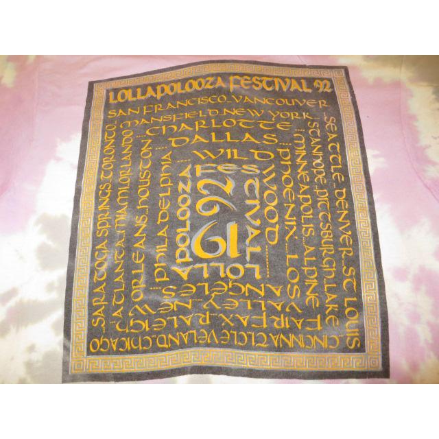 画像4: 【過去に販売した商品です】古着 LOLLAPALOOZA ロラパルーザ RHCP レッチリ アスタリスク タイダイ Tシャツ 90's/130717