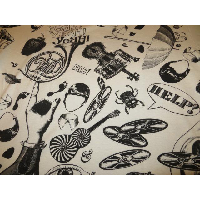 画像4: 【過去に販売した商品です】古着 THE BEATLES ビートルズ 総柄 マルチプリント FAB FOUR Tシャツ 90's/130717