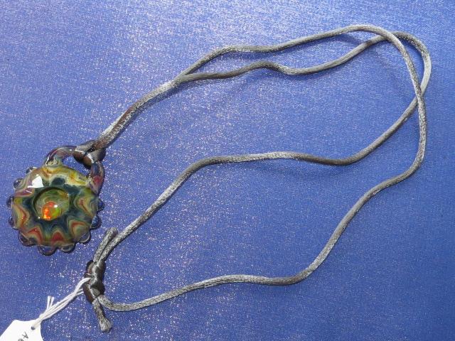 画像2: 新品 グラスアート GLASS ARTS ハンドメイド ペンダント LOCK 14MA-13 / 140402