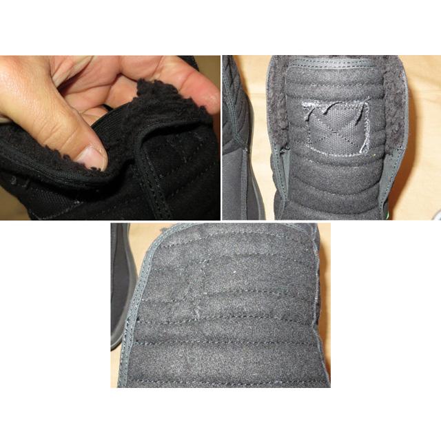 画像5: 新品 メンズ sanuk サヌーク 内ボア ブーツ BLK 00's /141210