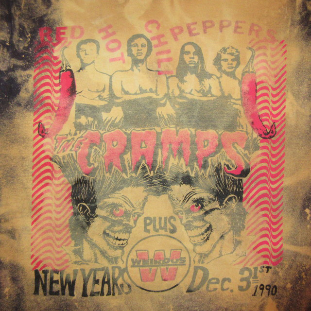 画像4: 【過去に販売した商品です】古着 RED HOT CHILI PEPPERS NEW YEARS DEC 31/1991 THE CRAMPS WEIRDOS レッチリ クランプスTシャツ 90's/160106