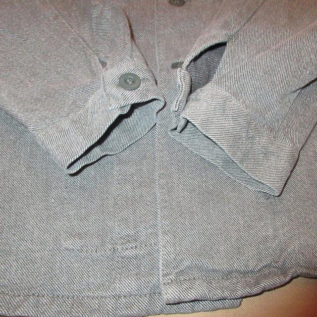 画像4: 古着 SWISS ARMY スイス軍 ミリタリー デニム シャツジャケット 80's /160310