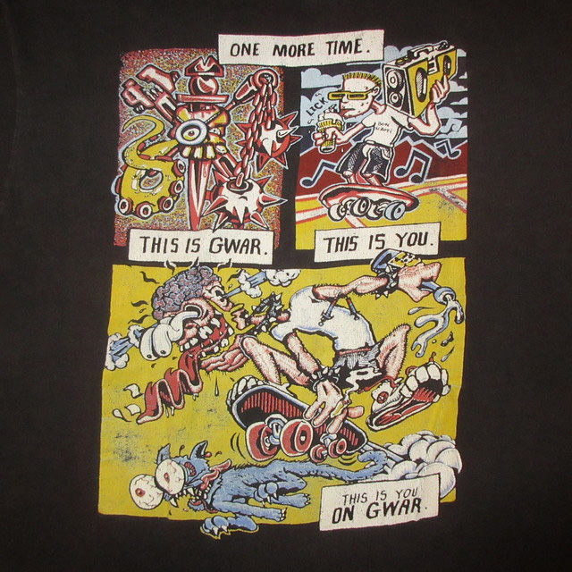 画像4: 【過去に販売した商品です】古着 GWAR グワァー スラッシュメタル Tシャツ 90's/160312
