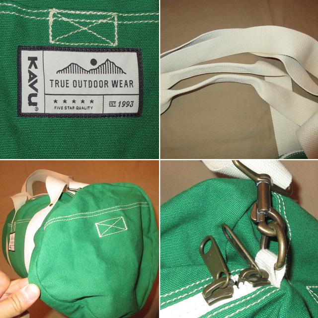 画像4:  新品 KAVU カブー 2WAY ドラムバッグ BAG GRN 00's /160511