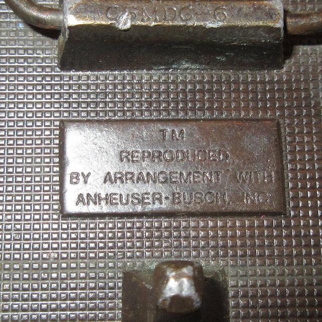 画像3: アンティーク Budweiser バドワイザー 真鍮 ブラス バックル 企業物 70's / 160514