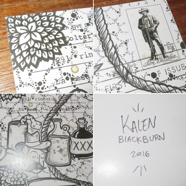 画像5: Kalen Blackburn カレンブラックバーン アーティスト ポストカード 額縁入り ポスター アート作品 インテリア 00's / 160529