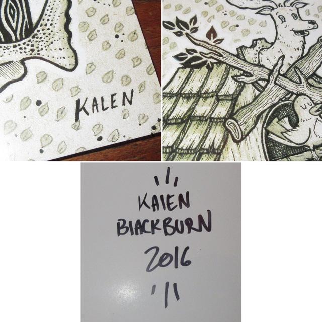画像4: Kalen Blackburn カレンブラックバーン アーティスト bird house 額縁入り ポスター アート作品 インテリア 00's / 160529