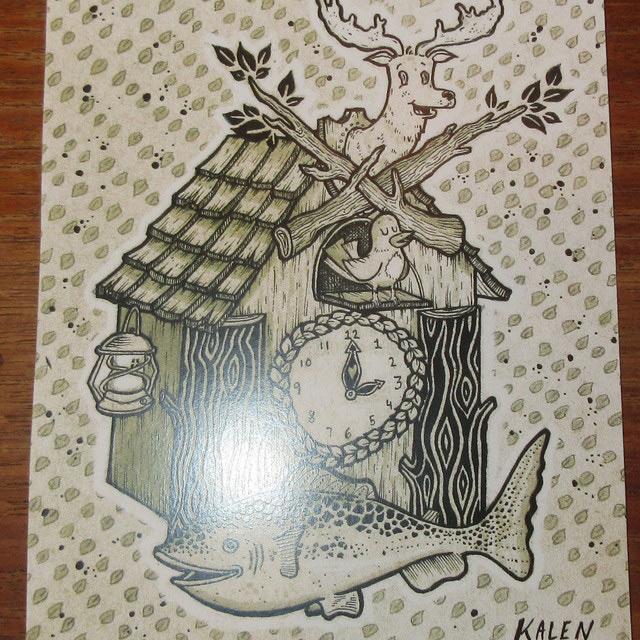 画像3: Kalen Blackburn カレンブラックバーン アーティスト bird house 額縁入り ポスター アート作品 インテリア 00's / 160529