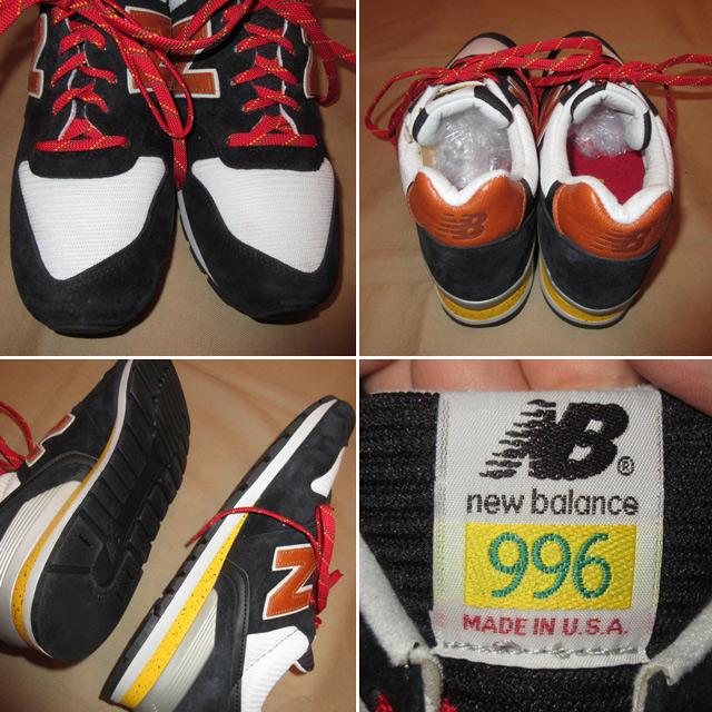 画像4: 新品 アメリカ製 NEW BALANCE NB ニューバランス 996 スニーカー BLK/YEL 00's /161024