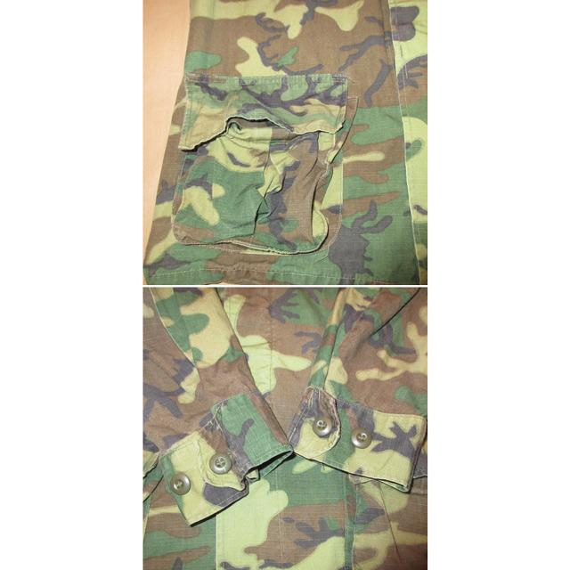 画像5: 古着 US ARMY アメリカ軍 ミリタリー ERDL ジャングルファティーグ ジャケット リーフカモ 60's /161117