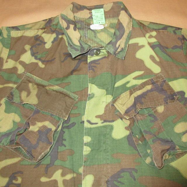 画像3: 古着 US ARMY アメリカ軍 ミリタリー ERDL ジャングルファティーグ ジャケット リーフカモ 60's /161117
