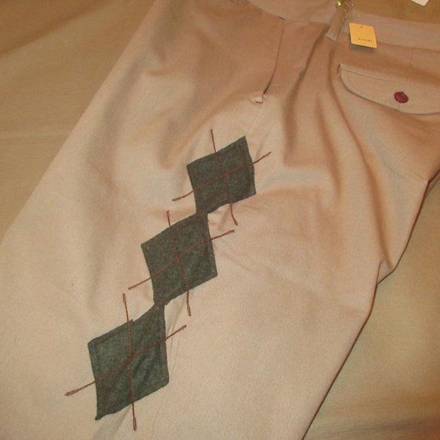 画像2: 新品 ROSASEN ロサーセン GOLF アーガイル柄 ゴルフ スラックス パンツ BEI 00's /161203