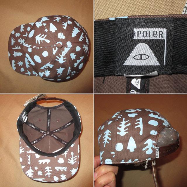 画像2: 新品 POLER ポーラー 総柄 スナップバック キャップ CAP 帽子 BRW 00's / 161212