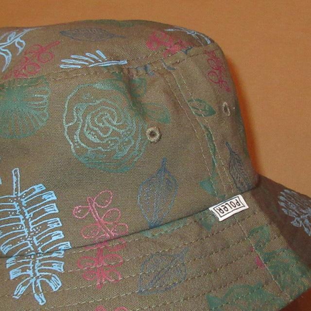画像2: 新品 POLER ポーラー 総柄 バケットハット バケツハット 帽子 GRN 00's / 161212