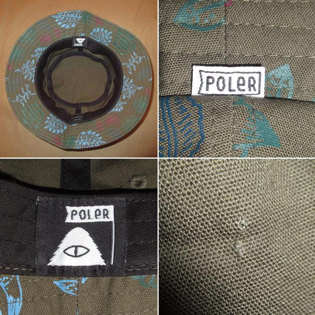 画像4: 新品 POLER ポーラー 総柄 バケットハット バケツハット 帽子 GRN 00's / 161212