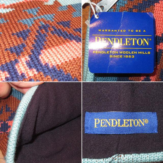 画像3: 新品 PENDLETON ペンドルトン ネイティヴ柄 ウール フリース ネックウォーマー ネックゲーター SAX 00's / 170105