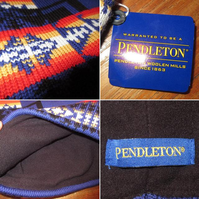 画像3: 新品 PENDLETON ペンドルトン ネイティヴ柄 ウール フリース ネックウォーマー ネックゲーター BLUE 00's / 170105