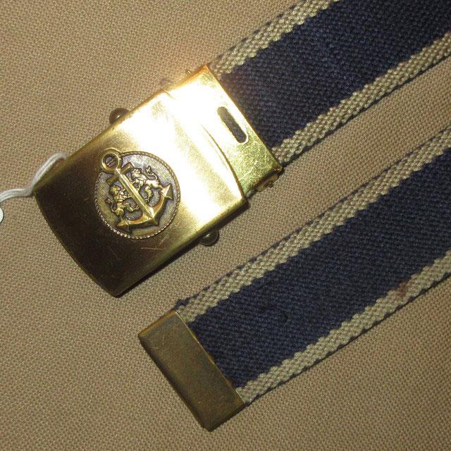 画像1: 古着 アンカーモチーフ マリン ブラス 真鍮 缶ベルト ガチャベルト 80's / 170105