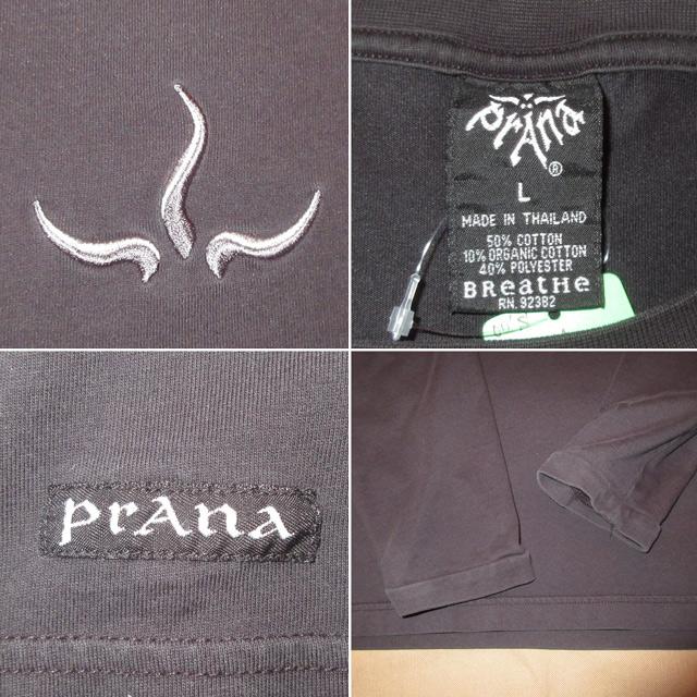 画像4: 古着 prana プラナ アウトドア カットソー アンダーウェア 長袖Tシャツ BLK 00's / 170130