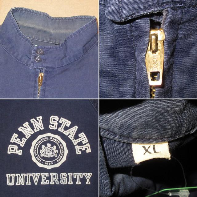 画像4: 古着 PENN STATE UNIVERSITY ペンシルバニア大学 カレッジ スイングトップ ジャケット CONMAR NVY 60's / 170225