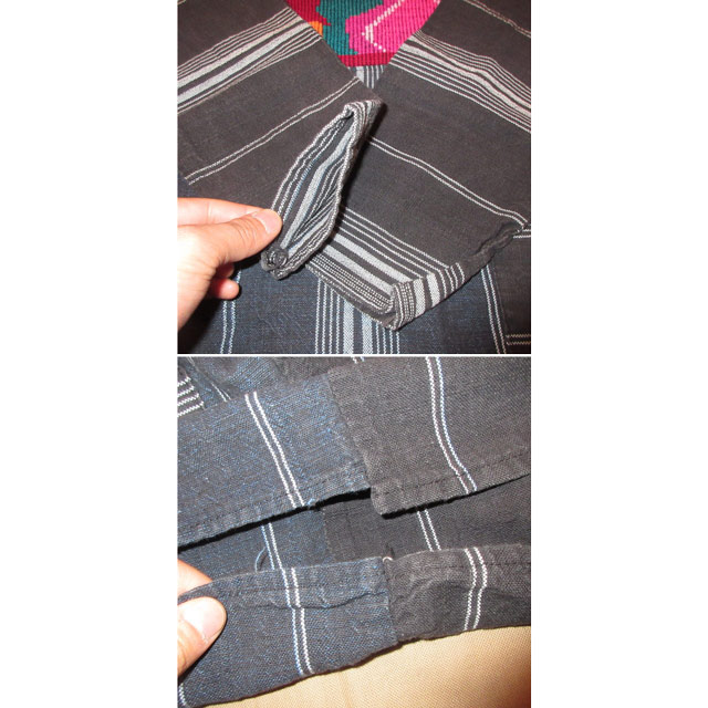 画像5: 古着 ガテマラ 中米 ラテン 民族生地 刺繍 プルオーバー コットンシャツ NVY 70's /170301