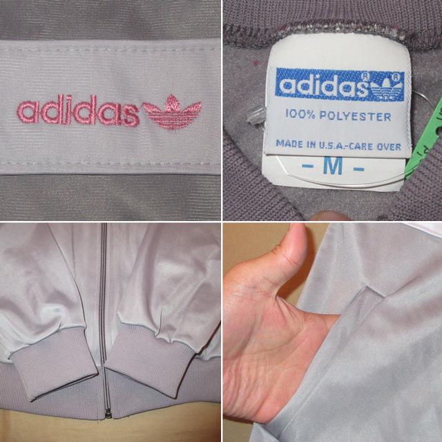 画像4: 古着 adidas アディダス ジャージ オールドスクール GRY/PINK 80's /170327