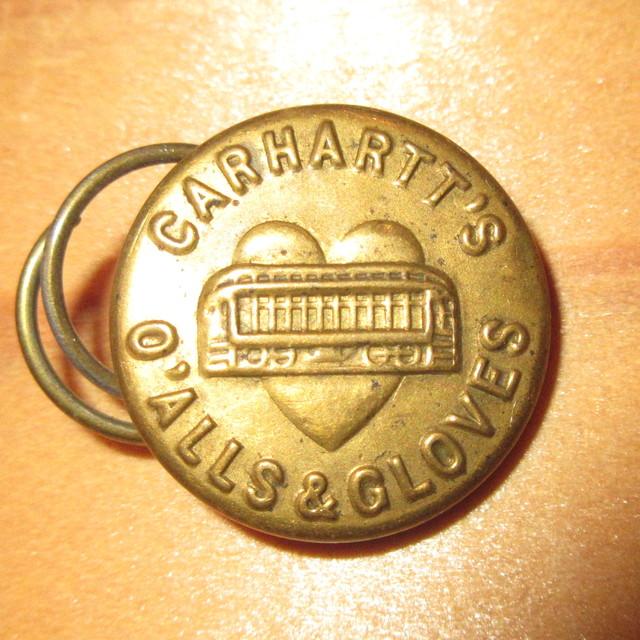 画像1: 古着 CARHARTT カーハート チェンジボタン 3 ワークブランド ヴィンテージ アンティーク 40's / 170407