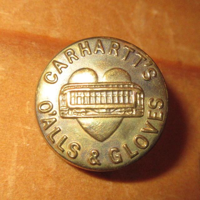 画像1: 古着 CARHARTT カーハート チェンジボタン 1 ワークブランド ヴィンテージ アンティーク 40's / 170407
