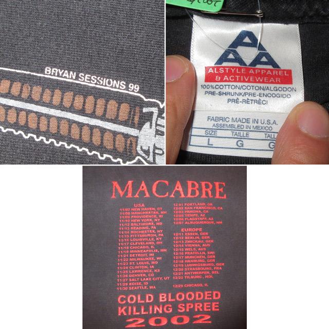 画像5: 【過去に販売した商品です/SOLD OUT】古着 MACABRE  Tシャツ 00's/170410