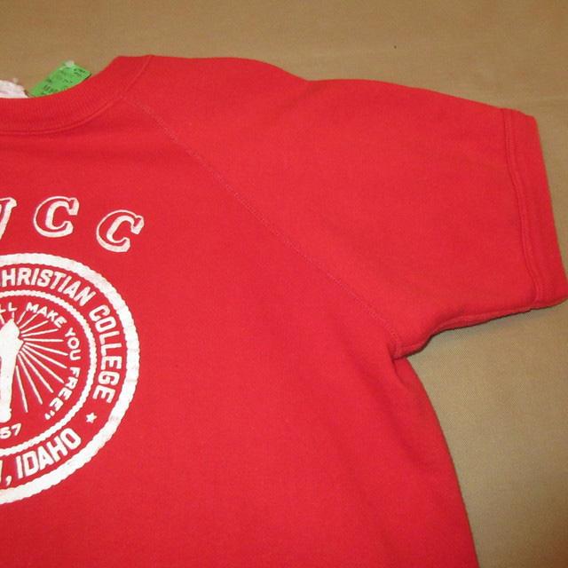 画像4: 古着 MVCC カレッジ プロッキープリント 半袖スウェット RED 60's /170418