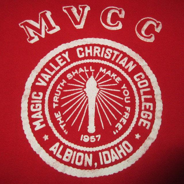 画像3: 古着 MVCC カレッジ プロッキープリント 半袖スウェット RED 60's /170418