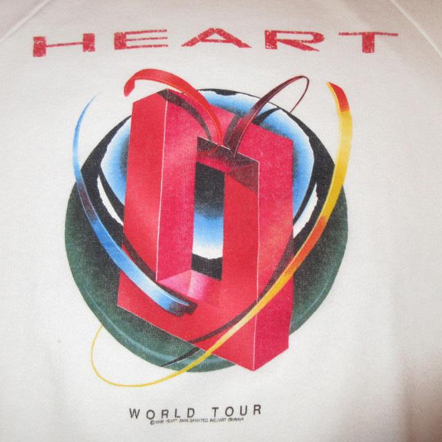 画像2: 古着 HEART ハート 1988 ワールドツアー スウェット WHT 80's / 170418