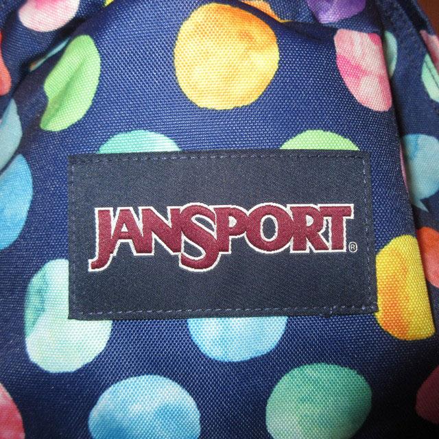画像3: 新品 JANSPORT ジャンスポーツ ドット柄 デイパック リュック NVY 00's /170511