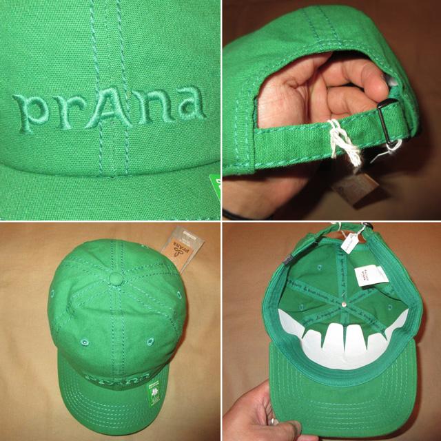 画像3: 新品 prana プラナ オーガニックコットン キャップ アウトドア CAP 帽子 GRN 00's / 170515