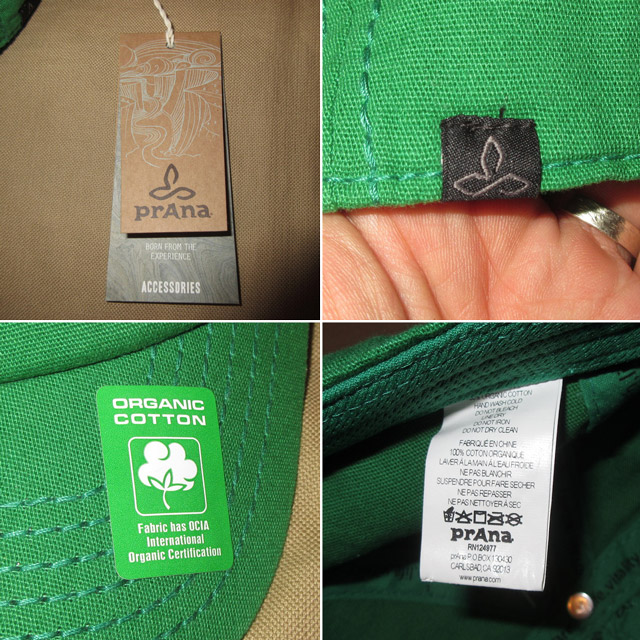 画像4: 新品 prana プラナ オーガニックコットン キャップ アウトドア CAP 帽子 GRN 00's / 170515