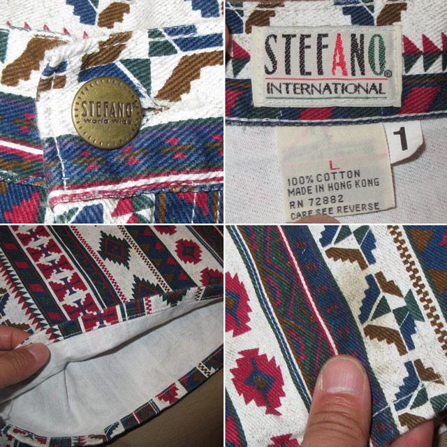 画像4: 古着 STEFANO ネイティヴ柄 インディアン柄 ショートパンツ ショーツ MIX 90's / 170605