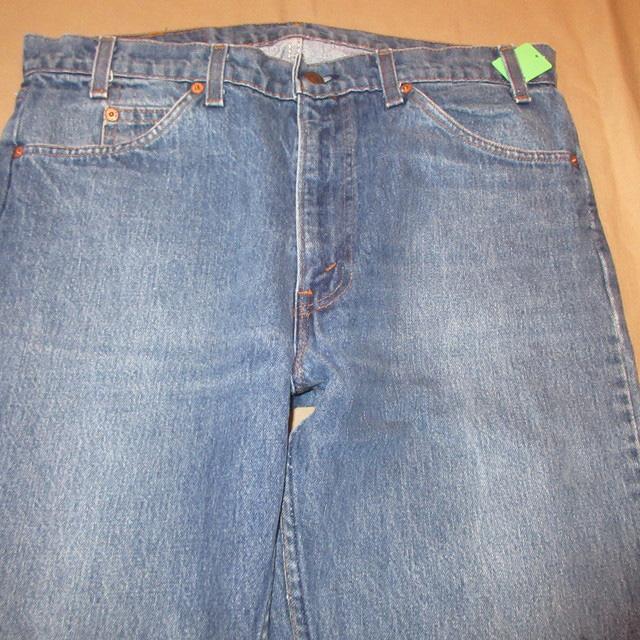 画像2: 古着 Levi's 505 リーバイス オレンジタブ USA製 デニム ジーンズ BLUE 80's /170608