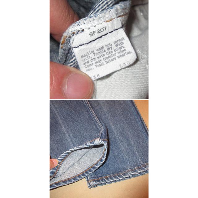 画像5: 古着 Levi's 505 リーバイス オレンジタブ USA製 デニム ジーンズ BLUE 80's /170608