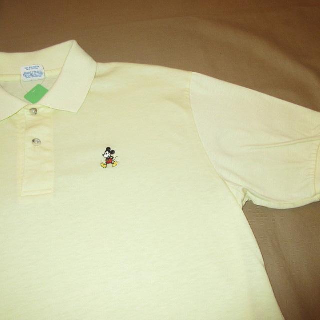 画像3: 古着 DISNEY ディズニー MICKEYMOUSE ミッキーマウス ポロシャツ YEL 80's / 170610