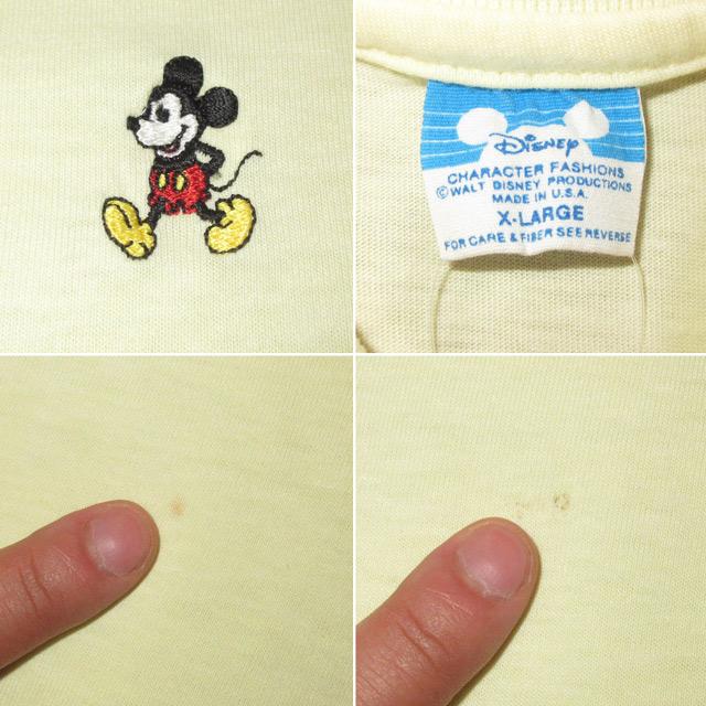 画像4: 古着 DISNEY ディズニー MICKEYMOUSE ミッキーマウス ポロシャツ YEL 80's / 170610