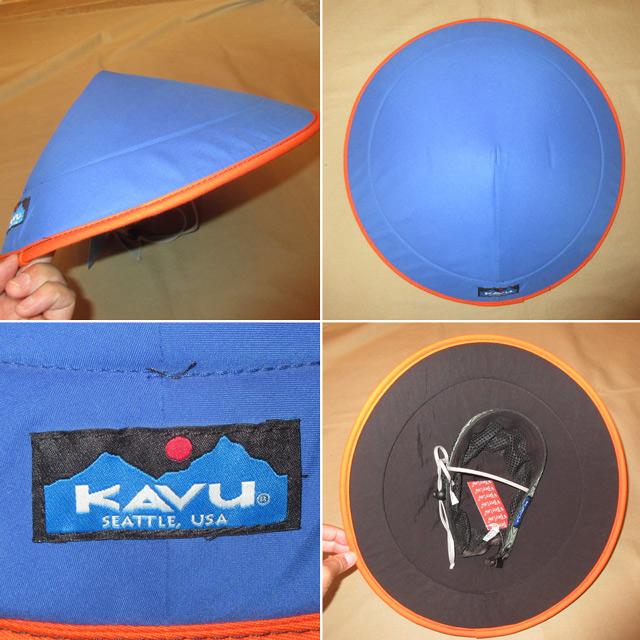 画像2: 新品 KAVU カブー chillba チルバ ハット HAT アウトドア BLUE/ORG USA製 00's / 170615