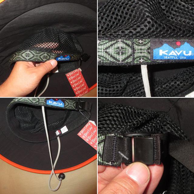画像3: 新品 KAVU カブー chillba チルバ ハット HAT アウトドア BLUE/ORG USA製 00's / 170615