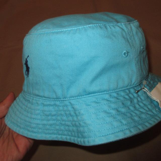 画像2: 新品 Ralph Lauren ラルフローレン バケットハット バケツハット 帽子 SAX 00's / 170615