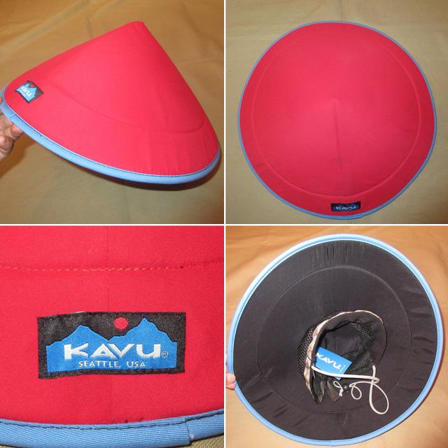 画像2: 新品 KAVU カブー chillba チルバ ハット HAT アウトドア RED/BLUE USA製 00's / 170615
